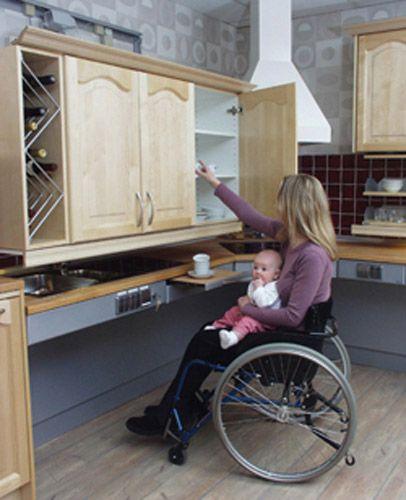 una casa a misura di disabile: la cucina. - Pensili Per Disabili